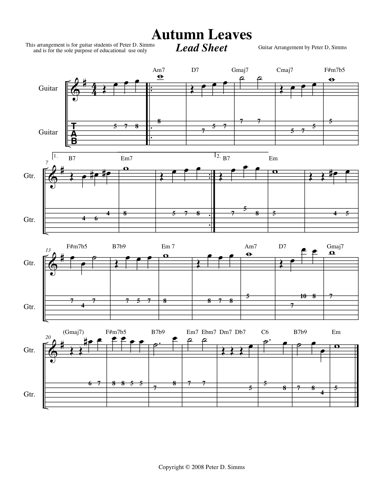 Jazz Standards Guitar Sheet Music Free - piano how do i go about playing jazz standards music ...