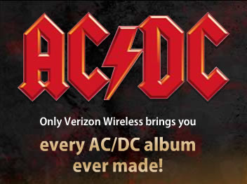 AC/DC - only on Verizon