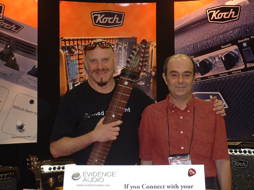 Steve Adelson with Mike van Stiphout of Audionova