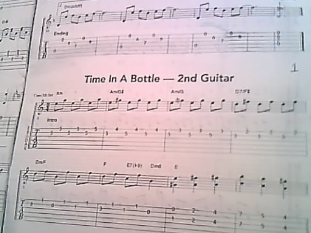 Q A Time In A Bottle Guitar Noise