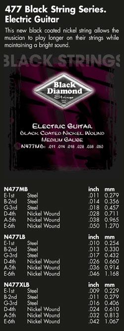 Black Diamond Guitar Strings