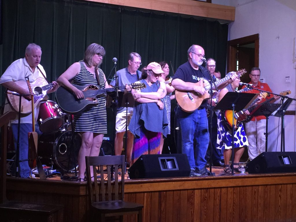 The Riverside Jam Band at the benefit for David